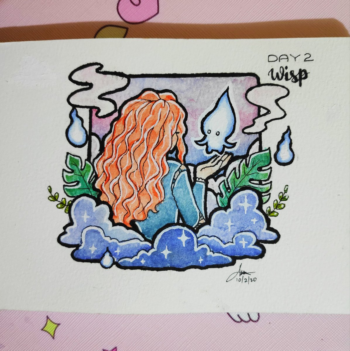 "𝙳𝚊𝚢 𝟸 -  𝙒𝙞𝙨𝙥  ""𝑶𝒖𝒓 𝒇𝒂𝒕𝒆 𝒍𝒊𝒗𝒆𝒔 𝒘𝒊𝒕𝒉𝒊𝒏 𝒖𝒔. 𝒀𝒐𝒖 𝒐𝒏𝒍𝒚 𝒉𝒂𝒗𝒆 𝒕𝒐 𝒃𝒆 𝒃𝒓𝒂𝒗𝒆 𝒆𝒏𝒐𝒖𝒈𝒉 𝒕𝒐 𝒔𝒆𝒆 𝒊𝒕""  ~𝑩𝒓𝒂𝒗𝒆  #inktober #inktober2020 #inktoberday2 #inktoberchallenge #watercolor #aesthetics #aesthetic #disney #disneybrave"