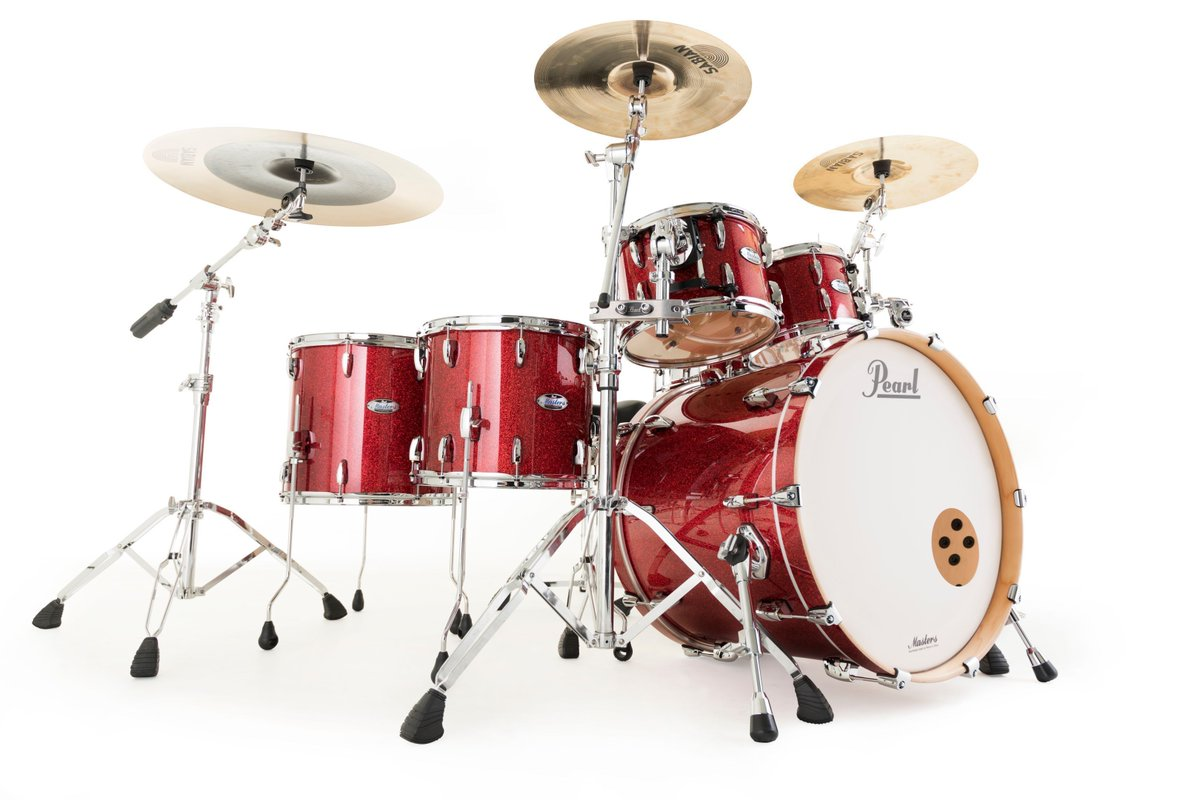 Born in flames, Pearl Masters Maple Complete in Inferno Red Sparkle. https://t.co/TAVpWBV2Se