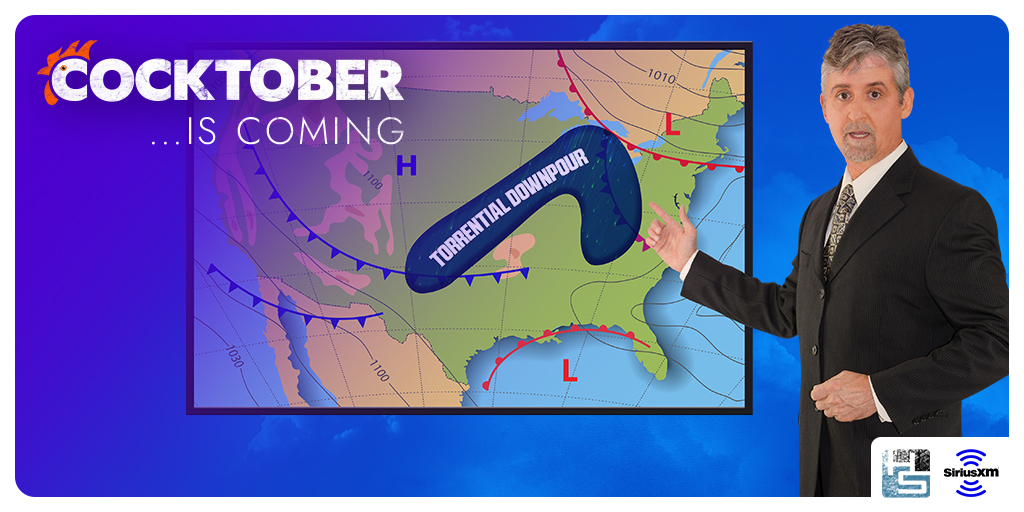 Monday's forecast: 100 percent chance of #Cocktober. 💦 Tune in on #Howard100!