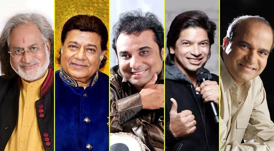 Gandhi Jayanti: Anup Jalota, Pt. Vishwamohan Bhatt, Suresh Wadkar, Shaan sing 'Ekla chalo re' – Latest English News | Absolute India News  @anupjalota  #GandhiJayanti @singer_shaan @sureshwadkar #LeenaBose