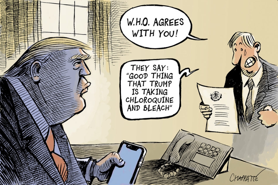 Chappatte Cartoons On Twitter Trumphascovid C Chappatte In Le Temps Cartoon Published On May 19 2020 Https T Co 5ernv8jcnc