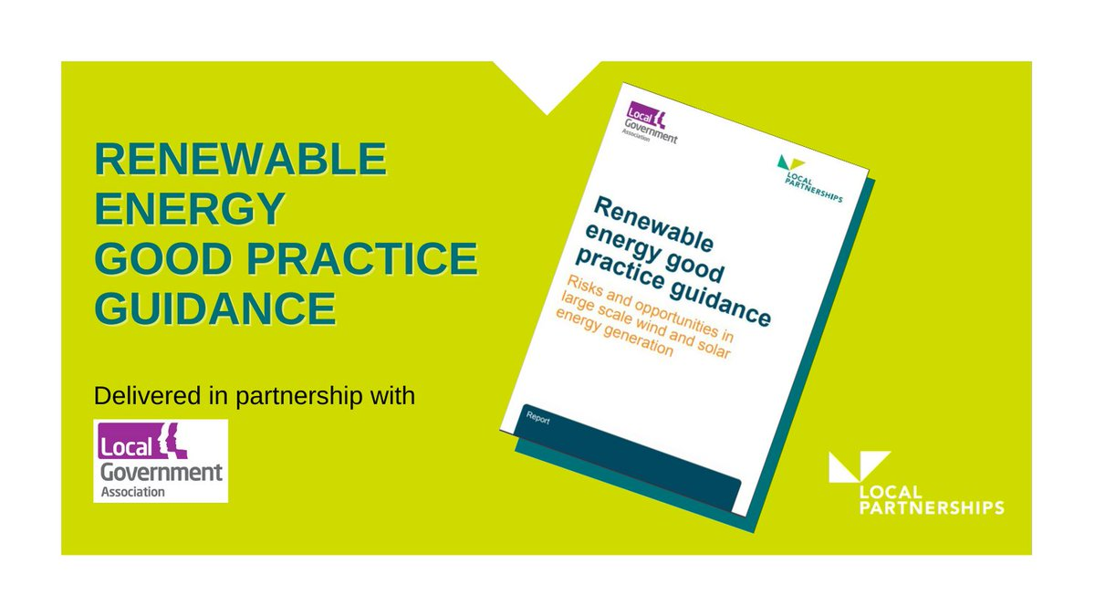 We've worked with @LGAcomms on producing guidance for Renewable Energy Good Practice.#READ: https://t.co/dPNPCIDWDD