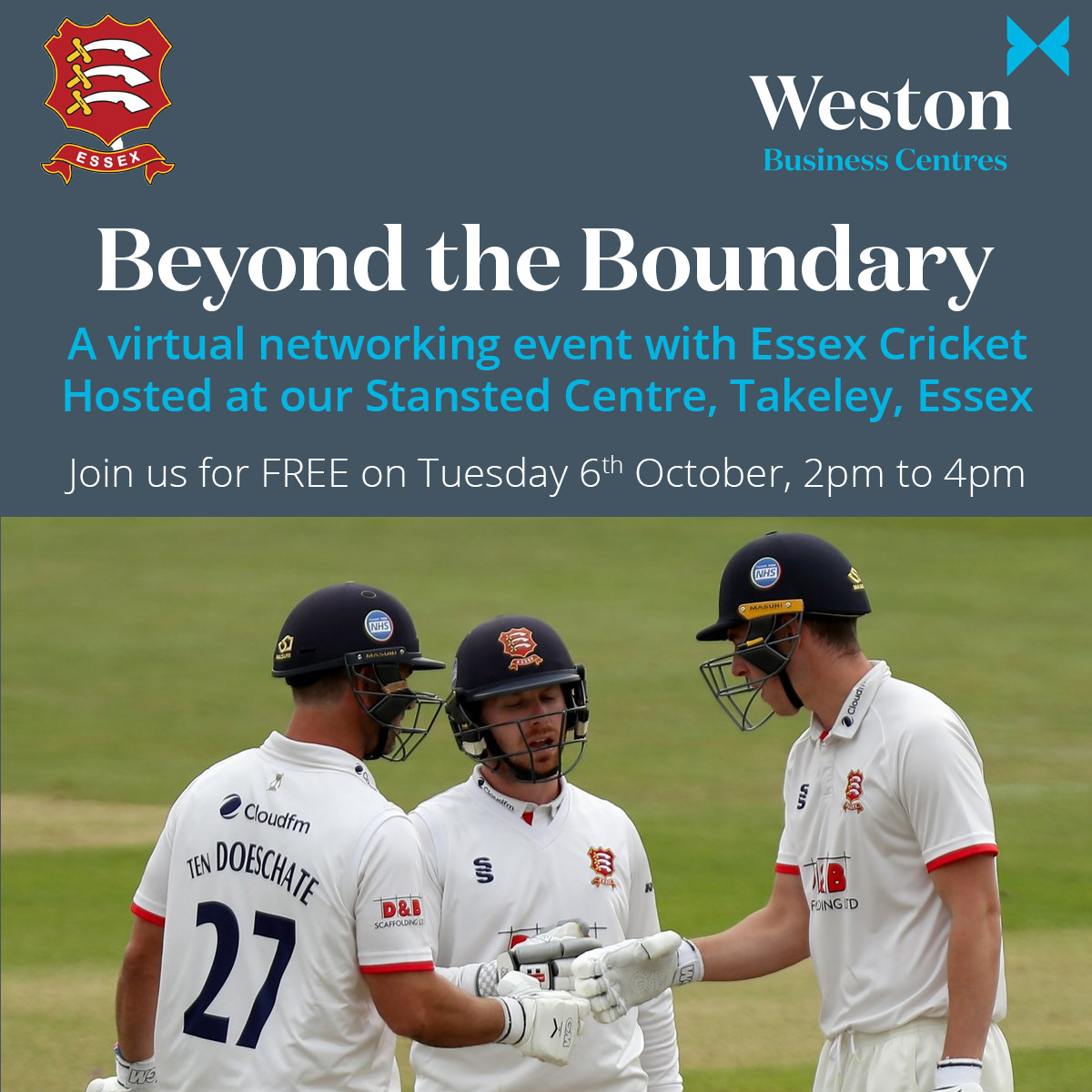 Before the weekend arrives, dont forget to register for this FREE virtual networking event, held by @EssexCricket, sponsored by @Tees_Law and hosted by us! Dont miss out: essexcricket.org.uk/virtual-beyond…
