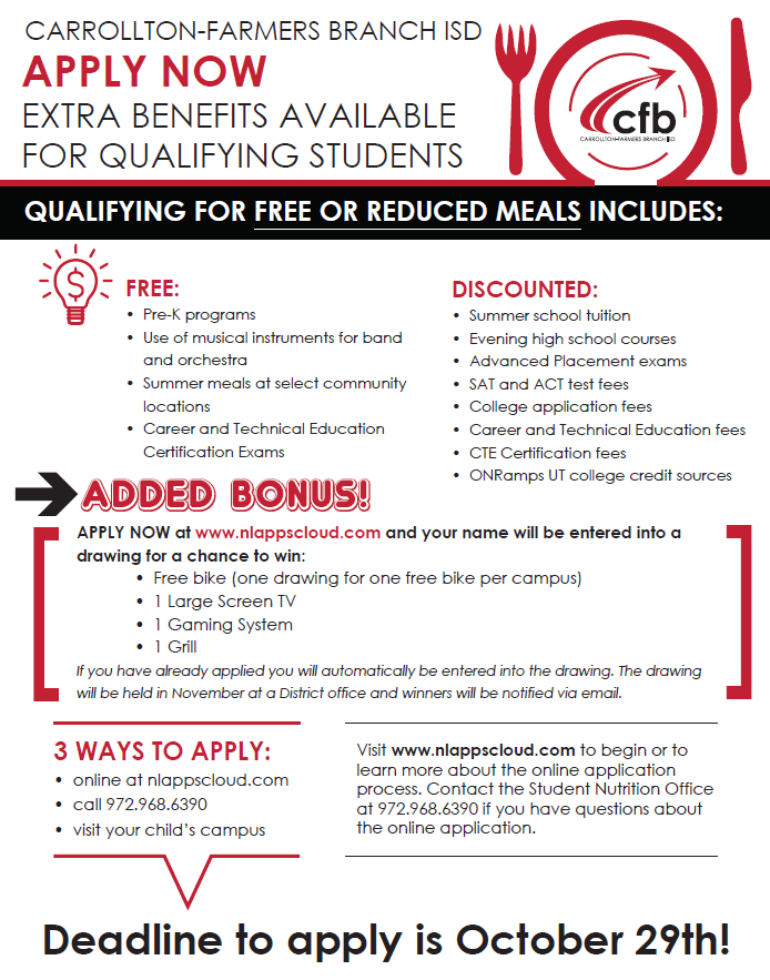 Free/Reduced Lunch Application psqr.io/xF_-KQCtD0 via @ParentSquare