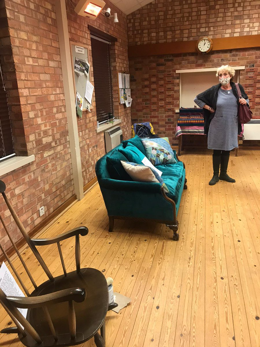 Live & Local's Dionne and Michele, enjoyed visiting #Ashorne WI to see the l museum created by the local community and artist Nikky Smedley @nikipedia111 for Live & Local's Living Room. It will be available to view virtually soon #BestWarwickshire #CreativeCareCW #CreateWell2020 https://t.co/KvTPhcx5Qa