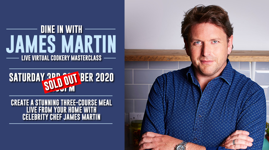 All tickets for @jamesmartinchef's first ever live cookery masterclass have been snapped up! Stay tuned for more exciting James Martin announcements in the future… 🍴 https://t.co/l0v4fEQegK