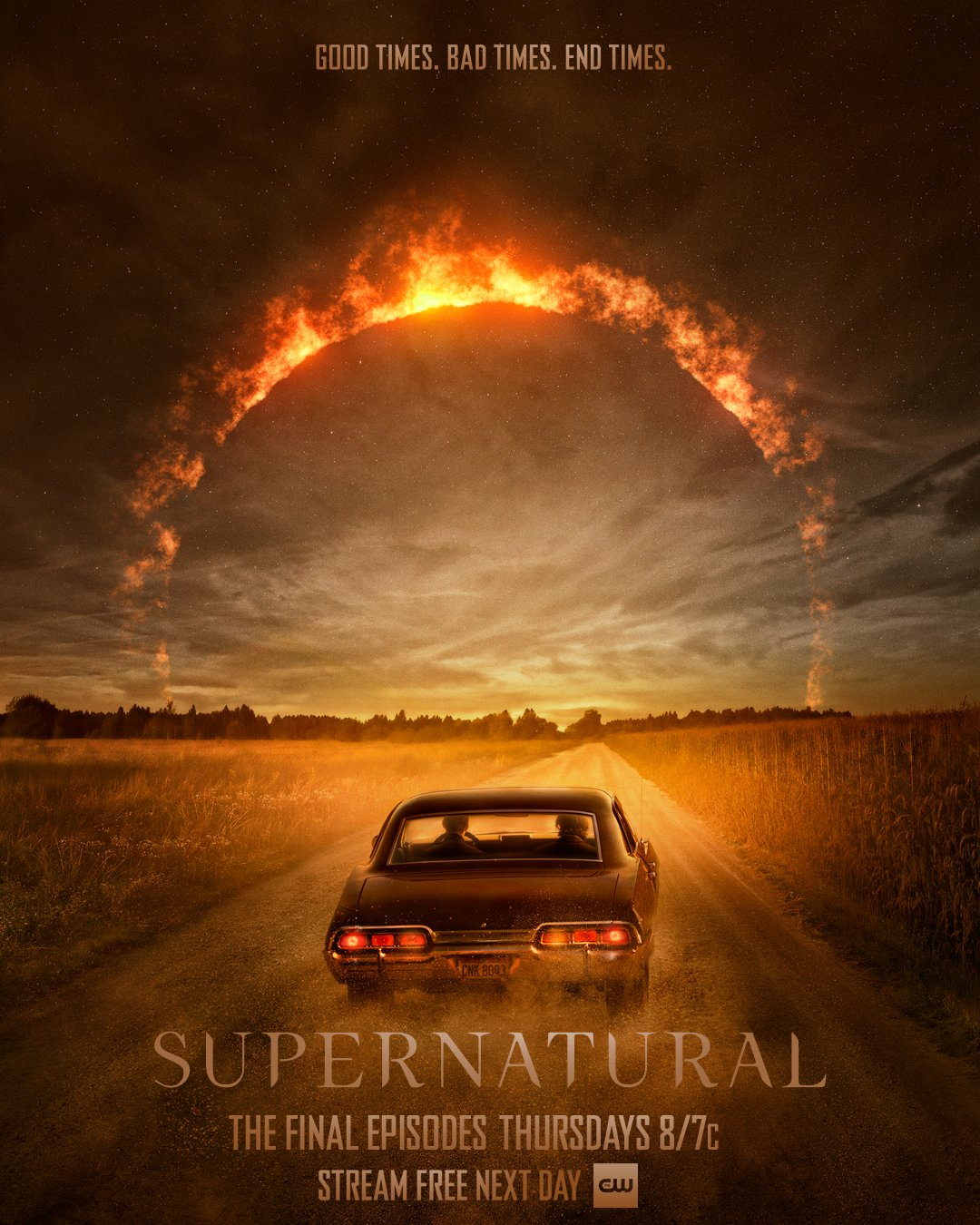 "Supernatural on Twitter: ""It's always been two brothers and the open road.  The final 7 episodes begin Thursday, October 8! #Supernatural  #SPNFamilyForever… https://t.co/F5d2wwtsvL"""