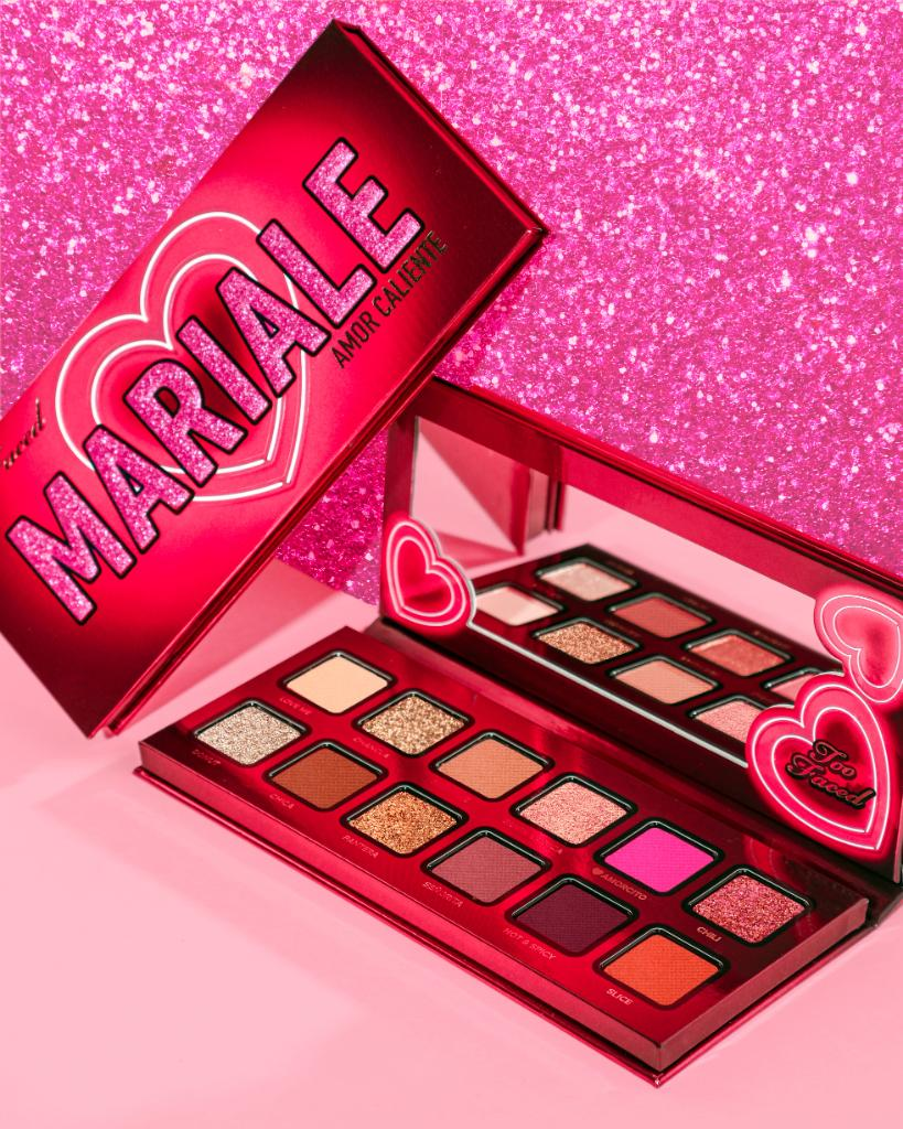 Always here for a pop of color. 💖 Sweep on the fluorescent matte pink, orange, & red shades plus the modern mattes and shimmers with our NEW @MarialeOficial Amor Caliente Eye Shadow Palette. Shop it here: https://t.co/T9DaFW6qxF #TooFacedxMariale #TooFaced https://t.co/pcnu1TCr3K