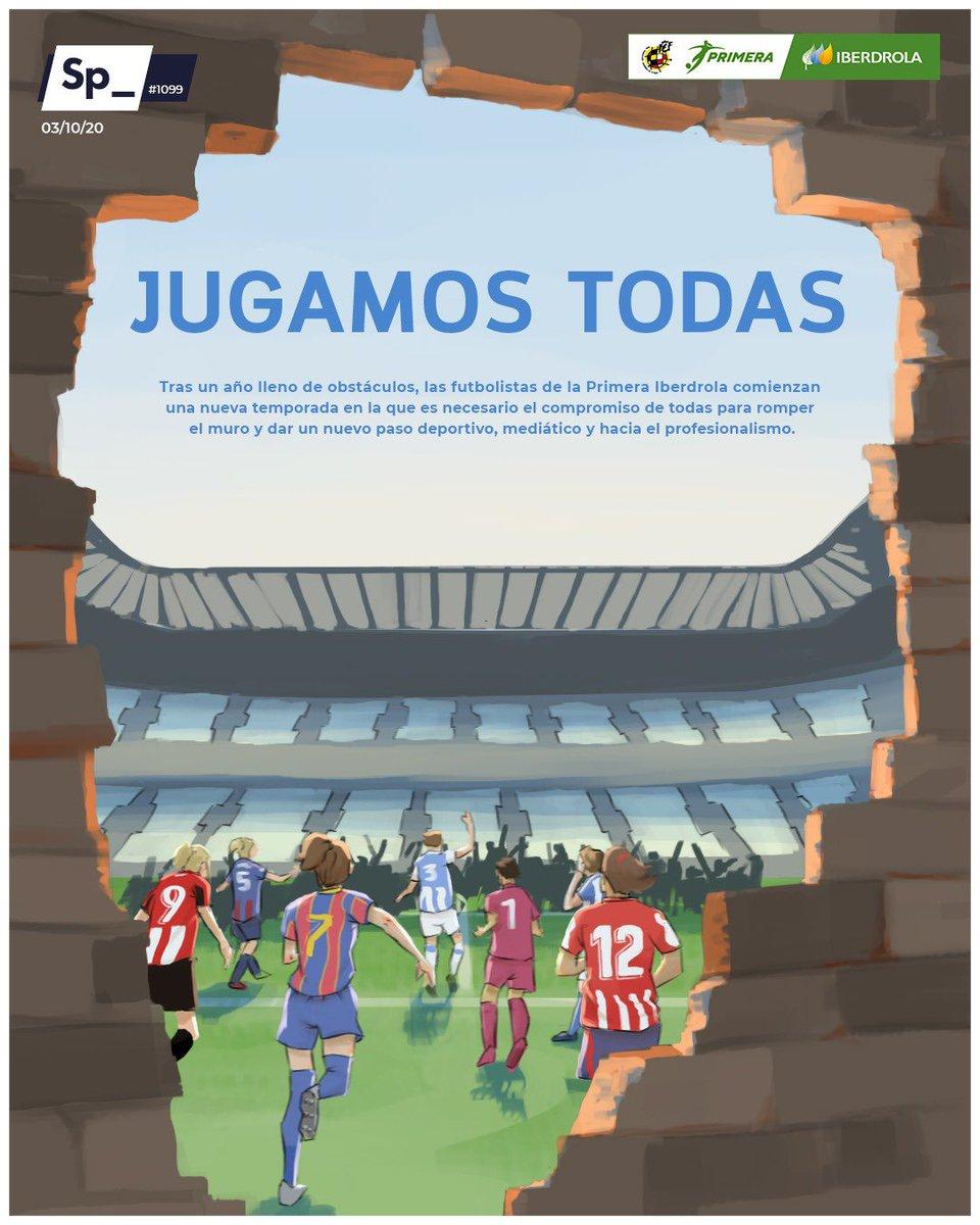 Tras un año lleno de obstáculos, las futbolistas de la #PrimeraIberdrola comienzan una nueva temporada en la que es necesario el compromiso de todas para ROMPER EL MURO y dar un nuevo paso deportivo, mediático y hacia el profesionalismo. #VuelveElFutFem #portadasp_