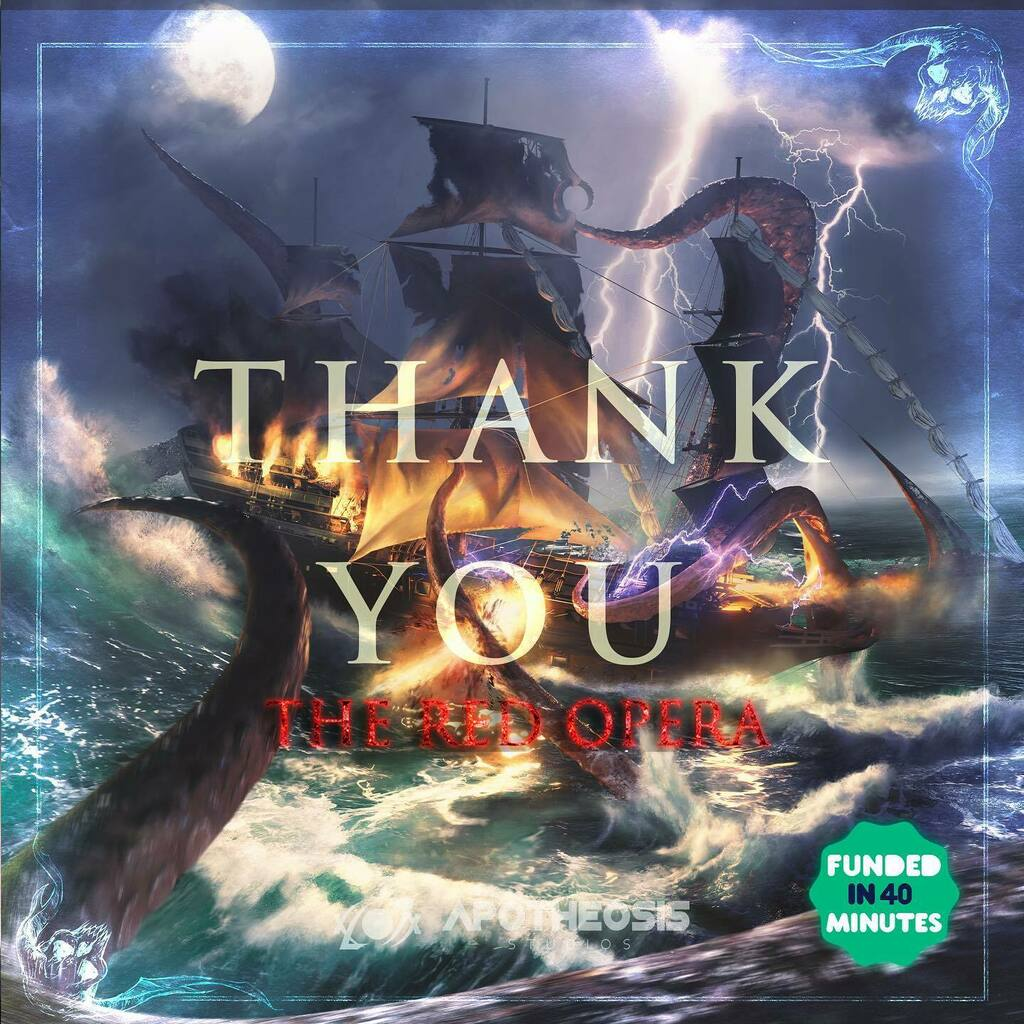 Thank you so much to our 2,482 backers for making the kickstarter for The Red Opera a HUGE success. We truly could not have done this without you! Our entire team is blown away and so, so incredibly thankful. There truly are not enough words to convey ho… https://t.co/aSD16zhA94 https://t.co/WTLRnG3IrT