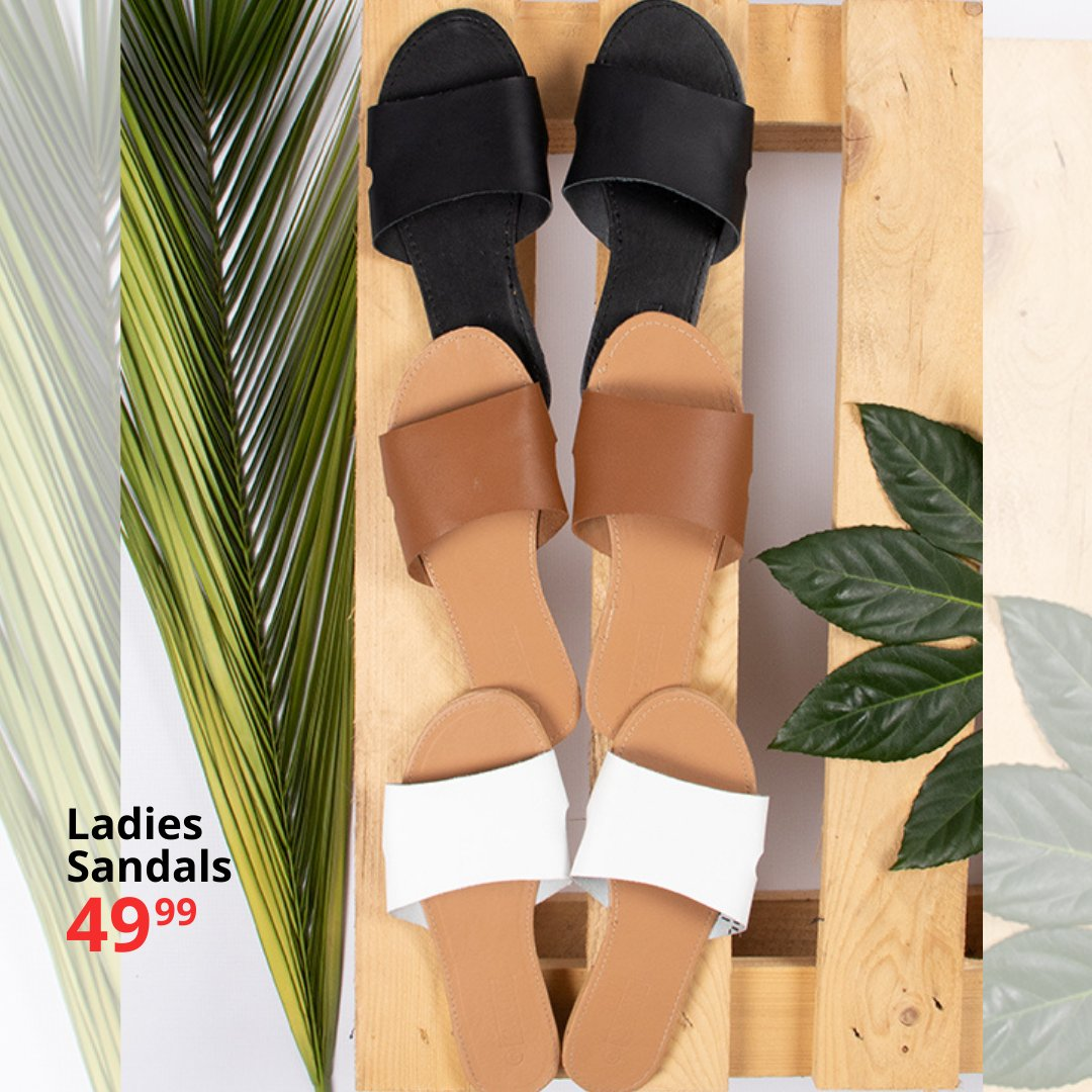 Time to kick off those boots & slip into something more comfortable ...  Ladies leather-upper Sandals only 49.99 #choiceclothing #wearchoice #ladies #sandals