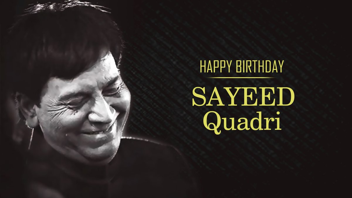 .@tipsofficial wishes the Genius Lyricist & Poet @SayeedQuadri2 a very Happy Birthday! 🙏🏻 Enjoy the everlasting charm of his work on this special day here:  #HappyBirthdaySayeedQuadri #SayeedQuadri