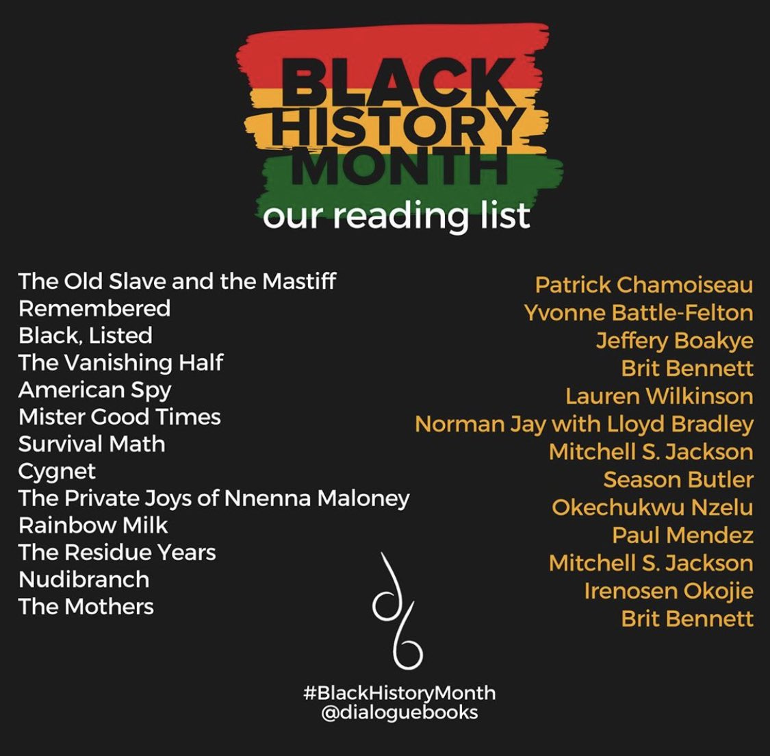 It's #BookshopDay today!! It's also #BlackHistoryMonth so I've made super it easy for you to support the local indie bookshop cause and increase your knowledge by publishing incredible narratives by brilliant writers. Check out the @dialoguebooks list below and get reading!! 🖤📖