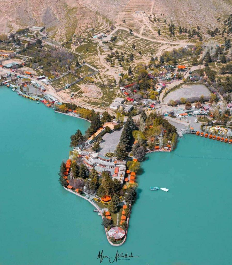 An areal view of #Qargha lake and Spogmai restaurant in #Kabul. #Afghanistan 🇦🇫  📸 Meer Abdullah https://t.co/TBj2UsUnYG