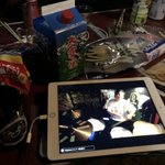 Image for the Tweet beginning: 長野から浜松のライブを配信で観ながら大雪渓‼️😆👍  #Pam #cj  #grindhouse #浜松 #グラインドハウス