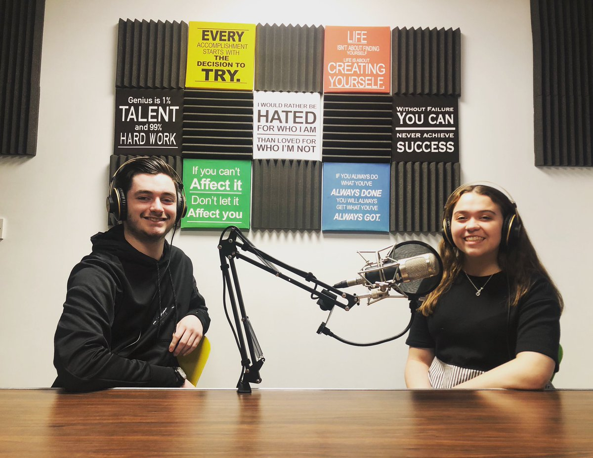 Another lockdown idea brought to life today as Adam Ball and Erica Lester recorded the first episode of their brand new podcast.   The series will explore their relationship with the arts and all the topical issues that affect young people. #podcast #youngpeople #thearts https://t.co/twPEit6QyV