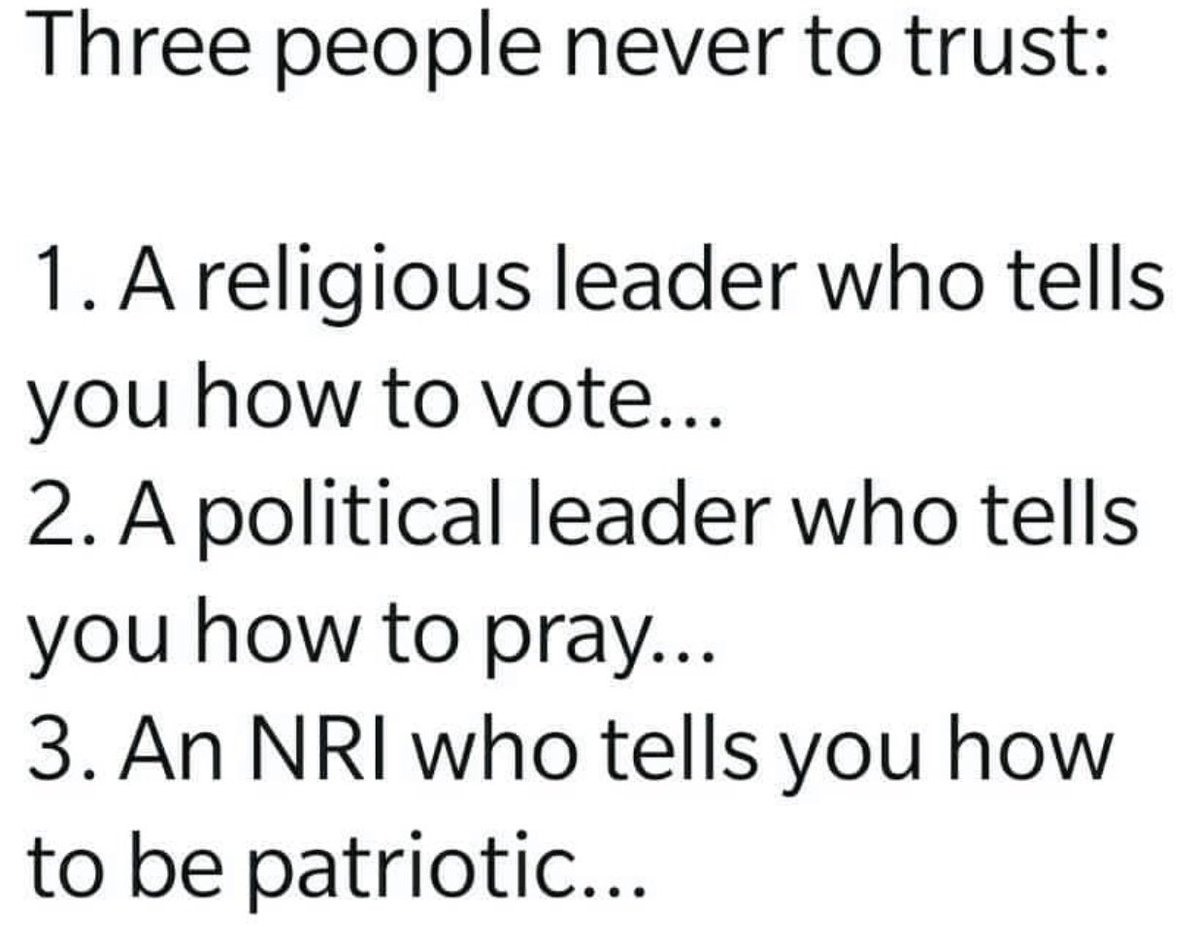 Replying to @virsanghvi: Somebody sent this to me. Do you agree?