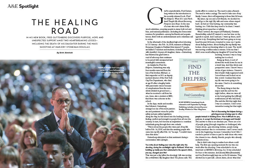 """(1,2) This beautiful review of my book """"Find The Helpers"""" was published in the October edition of Lifestyle Magazine.  I do hope you will read this & the book.  In addition to the article the magazine also published an editors letter discussing the book. https://t.co/ChPvFsyCB6 https://t.co/PJeXWxsF5E"""