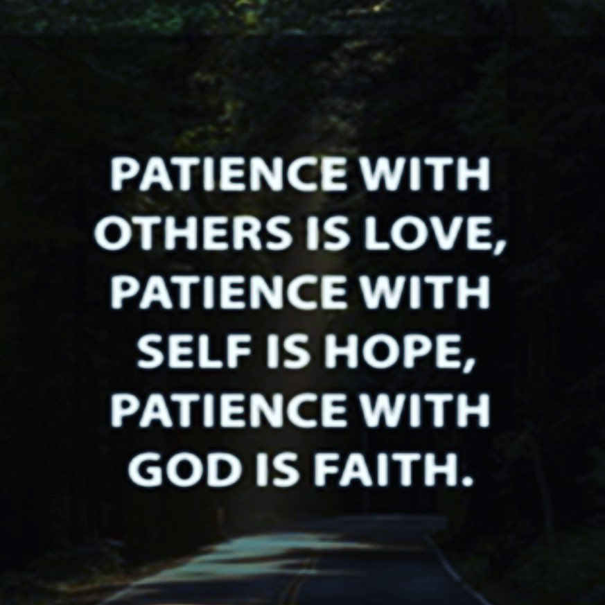 October's #LoveWell character trait is patience. Happy Saturday!
