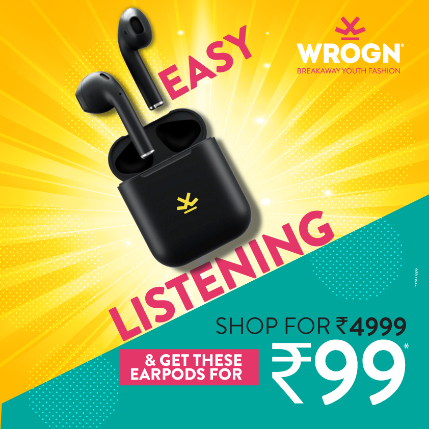 Get the perfect casual look this festive by #Wrogn- Breakaway Youth Fashion! Stay Mad, Stay Wrogn!!  #PhoenixMarketcityBangalore #PhoenixMarketcity #Wrong #Sports #Headphones #Music #WeekendDeal #staywrogn #viratkohli #casualwear #mencasualwear #festivecollection