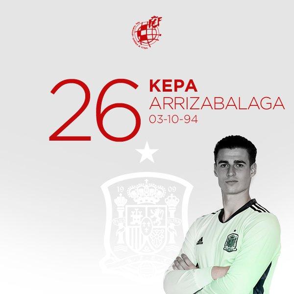 🎂 ¡Feliz cumpleaños a @kepa_46!  🥅 El guardameta internacional con la @SeFutbol cumple 26 años  ¡Muchas felicidades! 🎉🎉🎉