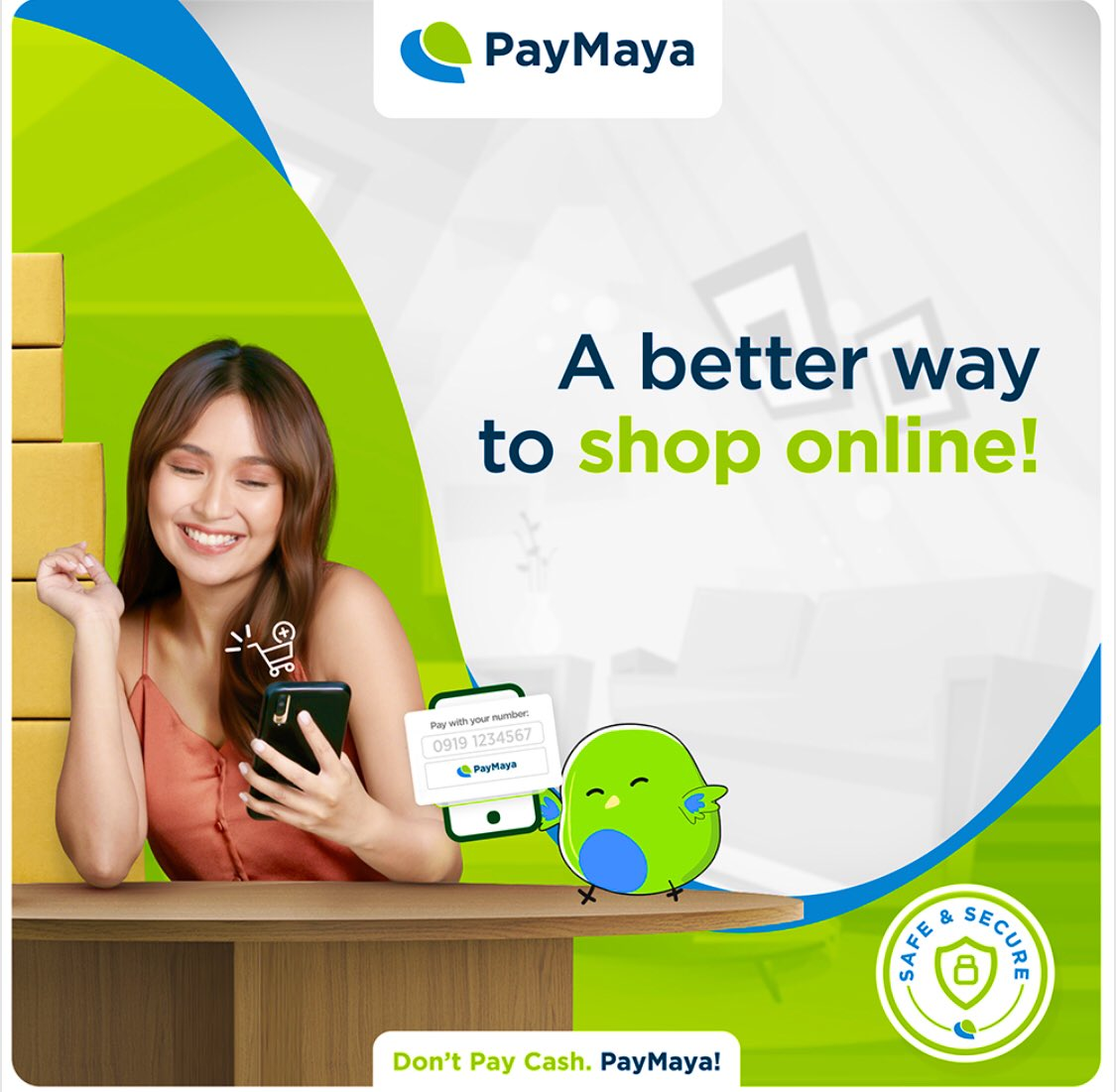 """""""It's better to #PayWithYourNumber for the essential things you need this holiday  conveniently with PayMaya!"""" 💚💚💚 ©️🔗   @bernardokath @imdanielpadilla  #PayMayaKathNiel"""