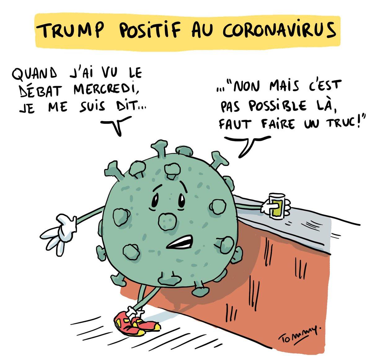 Tommy Dessine On Twitter Trump Positif Au Coronavirus Coronavirus Trumphascovid Trumpcovid Covid