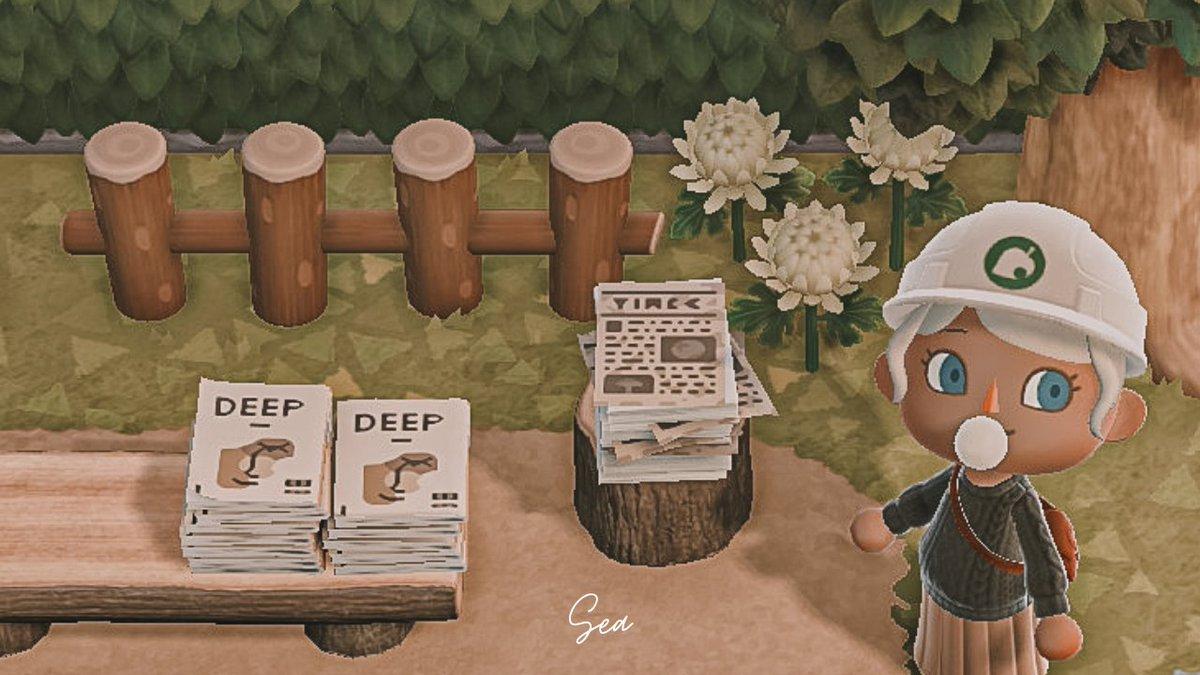 今日の島クリの進歩はよく分からんフリーペーパー週間ディープを発刊したのと、ディープ新聞を作りました。ディープのみんな読むんだよ~#あつまれどうぶつの森 #あつ森 #あつ森写真部 #animalcrossing #acnh