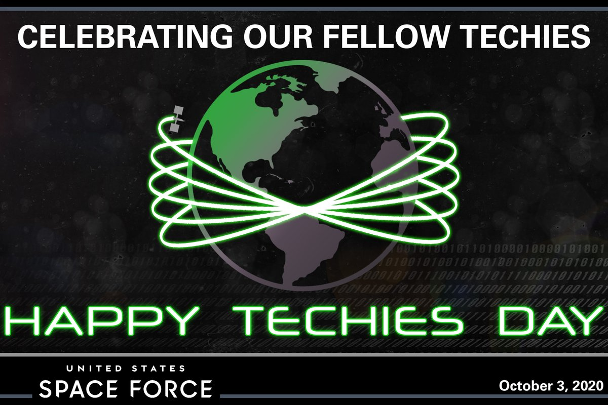 In 1998, the United States established National Techies Day to encourage young people to learn about careers in technology. Today, we celebrate and wish a Happy Techies Day to all of our current and future tech experts in the Space Force. #NationalTechiesDay