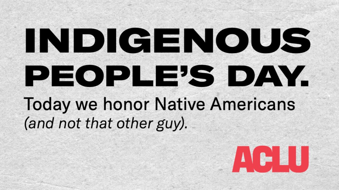 Today, we honor the culture, heritage, and resilience of our Native American communities.  Happy Indigenous People's Day. https://t.co/6gvOYv5IqV