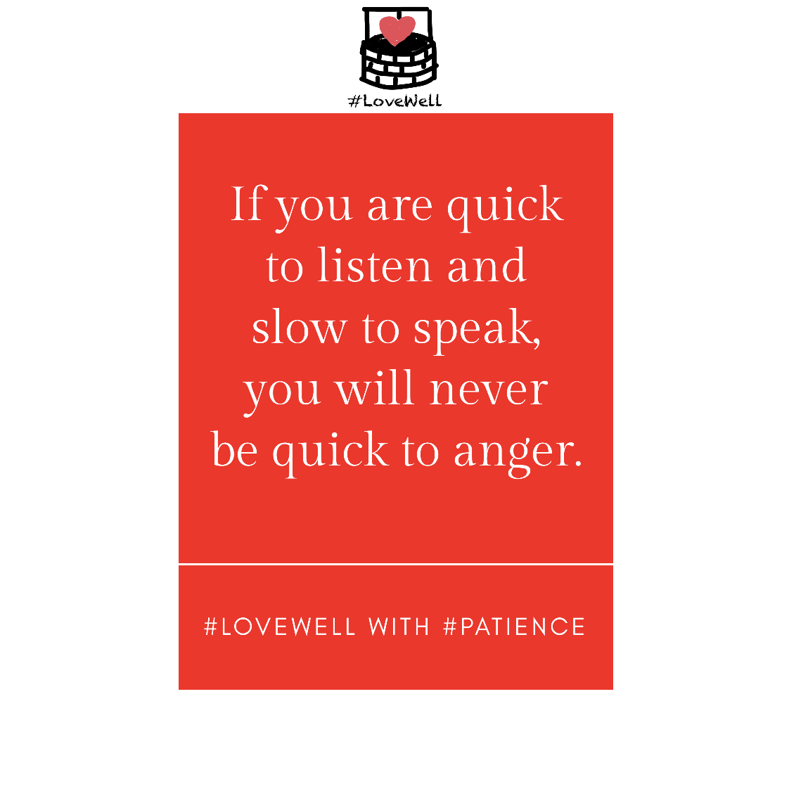 The pathway to perfecting your patience. #LoveWell