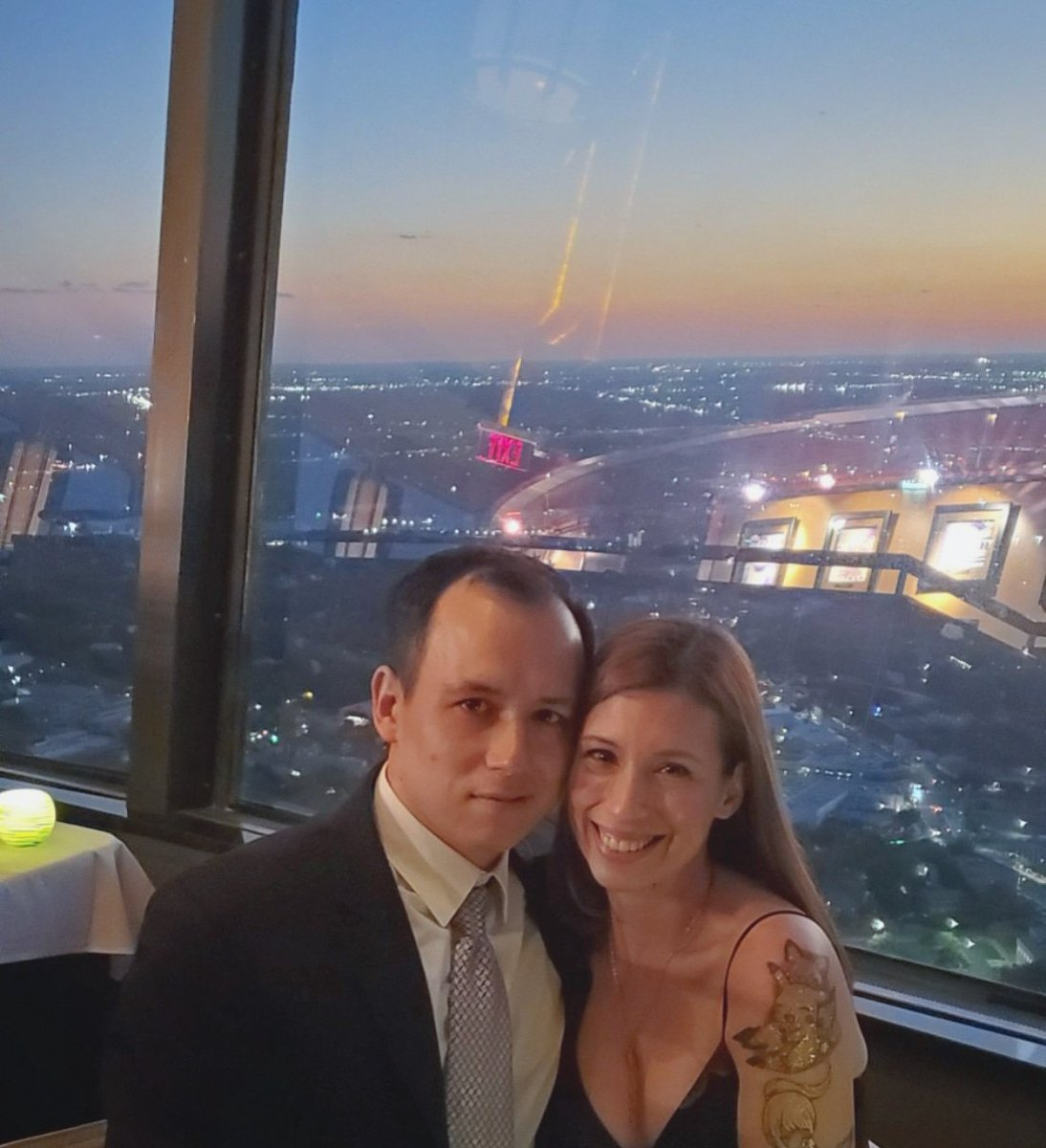 Just out celebrating how much we love each other is all. Thanks @ohclauds for recommending the Tower to us. We had a lot of fun  experiencing it for the first time together ❤   #sosweetitssickening #sorrynotsorry #canthelpfallinginlove #toweroftheamericas #thingstodoinsanantonio https://t.co/DXsAJWicL2