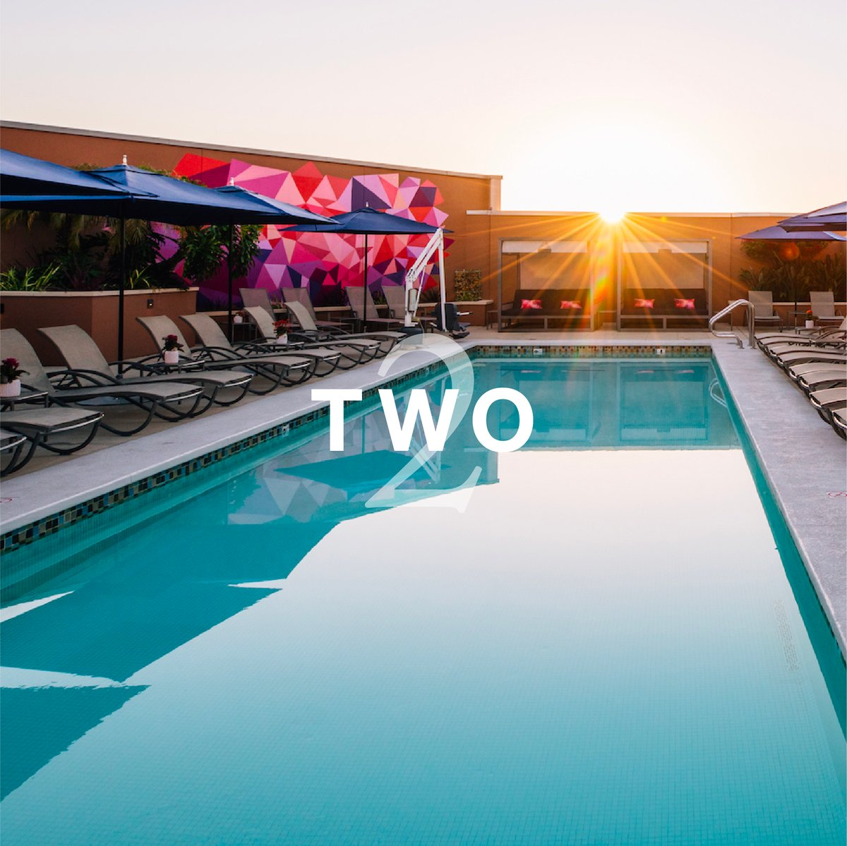 In just two days, this can be your place to soak up the sun. We are so excited to welcome you back to our pool, complete with an outdoor fitness cabana that includes water-powered cardio equipment, Peloton, TRX resistance, free weights, and more. https://t.co/ZJf0cAY65N