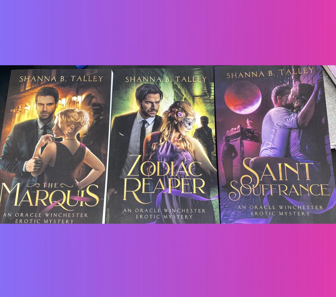 My books are available in print and ebook format now! Order your copies today & don't forget to leave reviews!  The Marquis: An Oracle Winchester Erotic Mystery https://t.co/L5llzyaV8w… #Amazon #BookReview #book #author #romancenovel #erotica #Writer https://t.co/mBSgrCfw0E