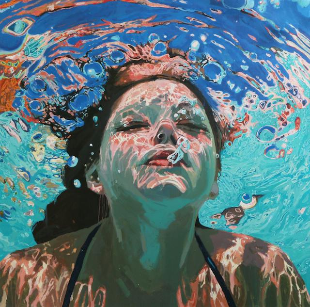 underwater painting of people by houston - 1000×989