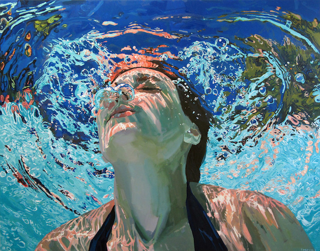 underwater painting of people by houston - 980×743