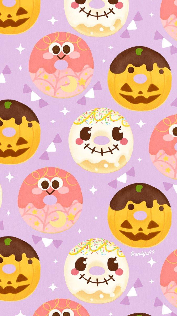 Omiyu みゆき على تويتر ハロウィンなドーナツ壁紙 Illust Illustration ハロウィン Halloween ドーナツ Donuts イラスト Iphone壁紙 壁紙 食べ物