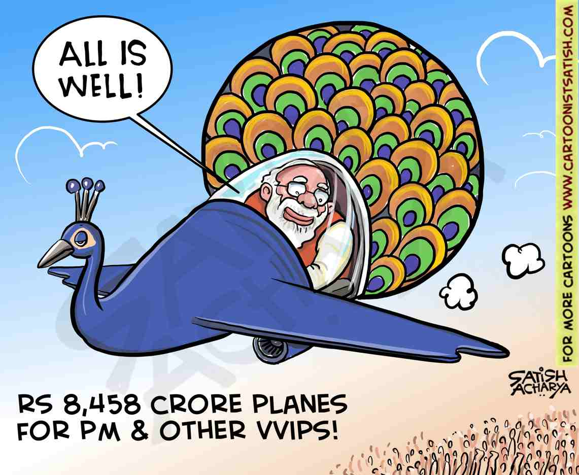 Rs 8,458 crore planes for PM & other VVIPs. #AirIndiaOne https://t.co/j2qZMktE05