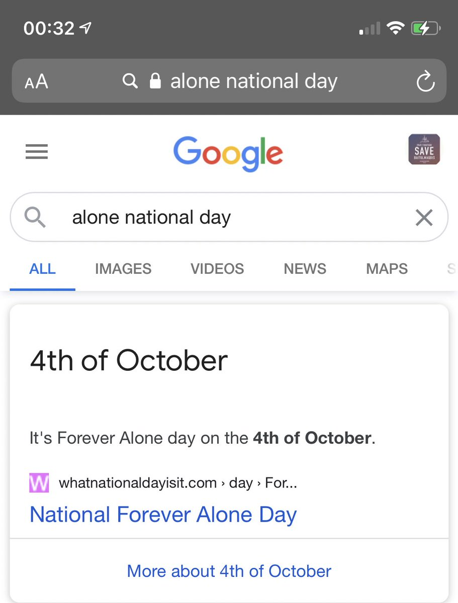 Happy alone national day for dearself and all forever alone 🥺