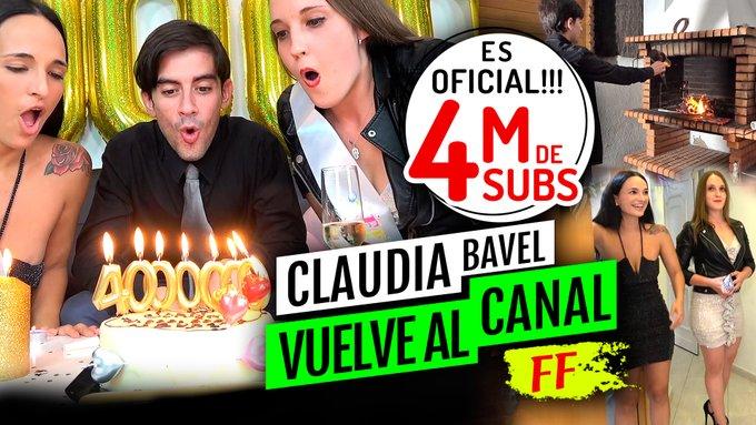 ❤ ¡¡NUEVO VÍDEO!! ❤  ¡¡ESPECIAL 4 MILLONES DE SUBS!! VUELVE @claudiabavelx (Y PROTAGONIZA FF 😎)  https://t