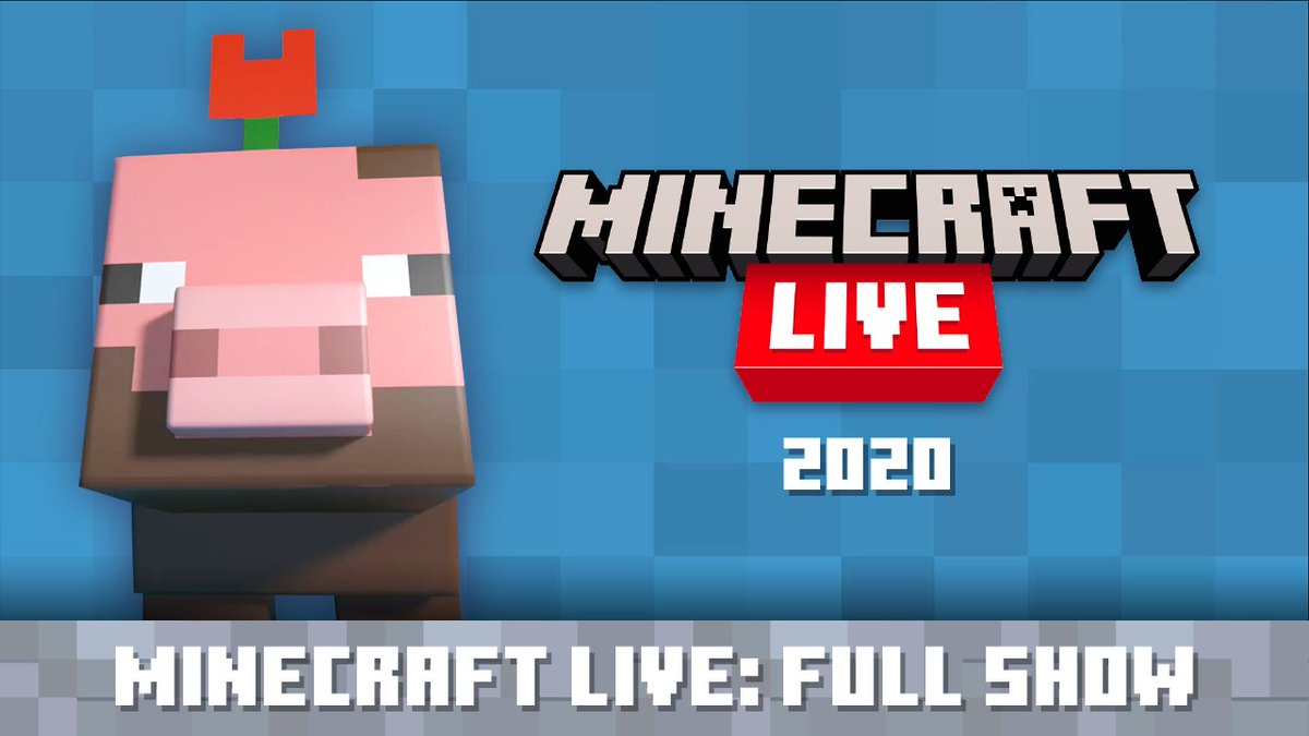 Were sure you must have a really good reason for missing #MinecraftLive – so dont worry, weve got your backs! ICYMI – or if you just want to see it all again – watch #MinecraftLive on our YouTube Channel: ↣ youtu.be/DWZIfsaIgtE ↢