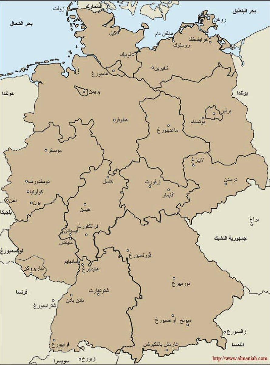 خريطة المانيا الشرقية