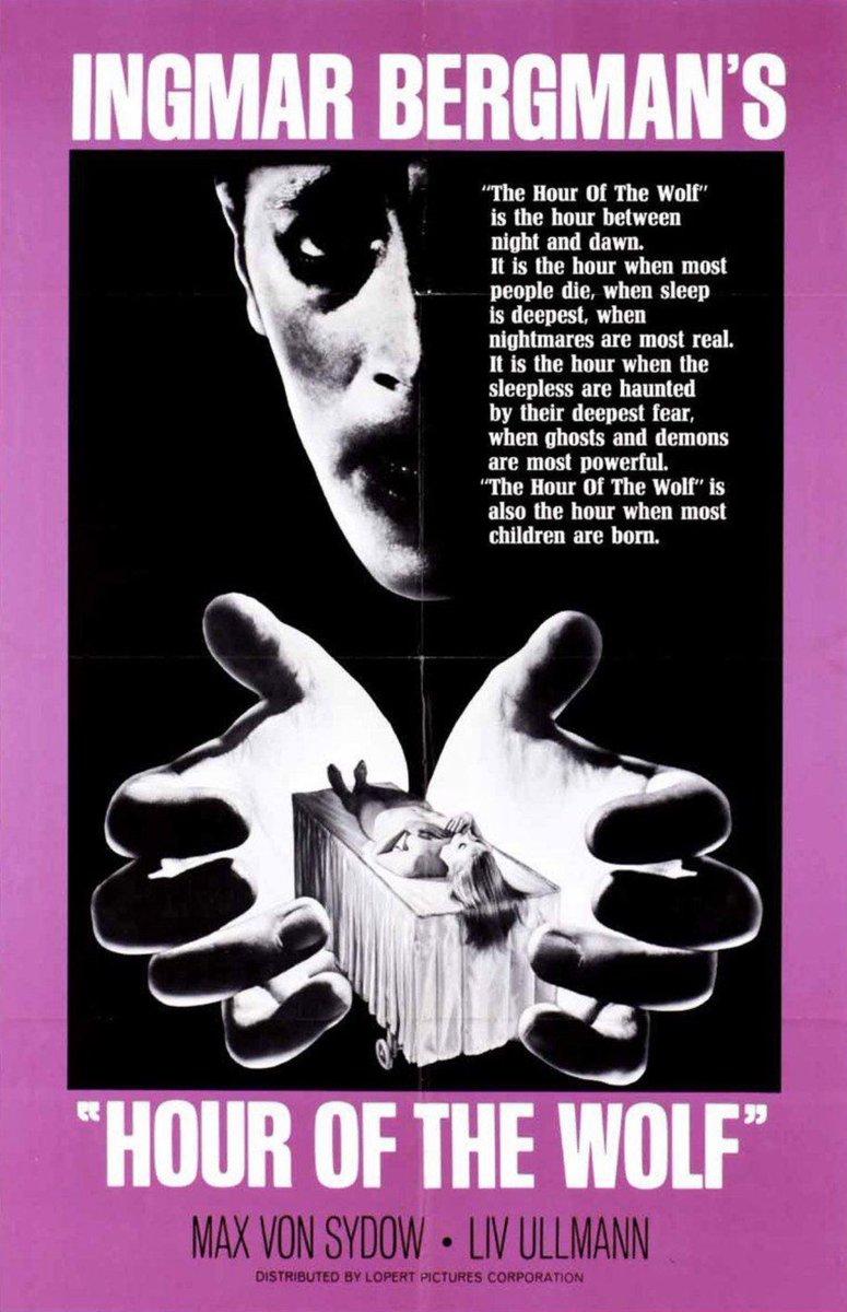 Ekim ayı seçkisi, usta yönetmen #IngmarBergman'ın hayalle gerçeğin iç içe geçtiği eseri #Vargtimmen - #HouroftheWolf (1968) ile devam ediyor. #spookyseason