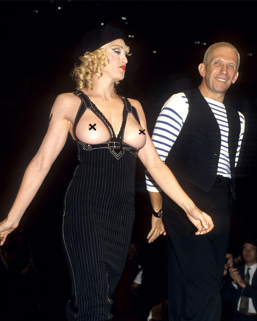 "Jean Paul Gaultier on Twitter: "".@Madonna's femininity highlighted by # JeanPaulGaultier. #BeScandal #JeanPaulGaultier #RTW #AW92 #amfar #Madonna… """