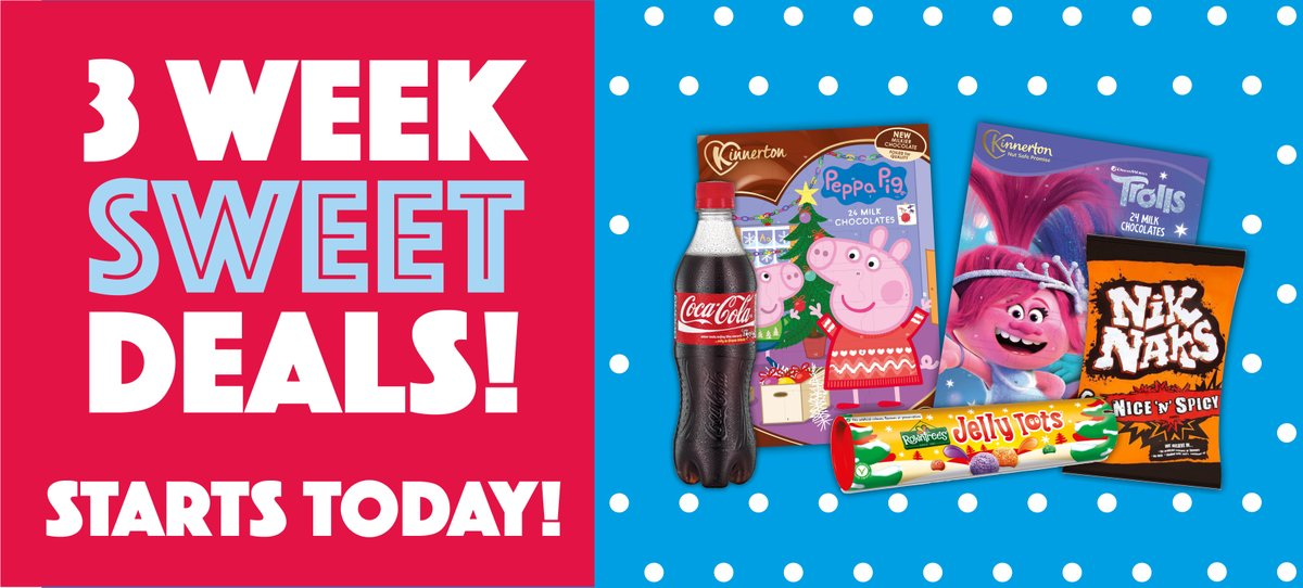 Our 3 Week Sweet Deals start today! 😱  We're open today from 9am-1pm so head down to your local Hancocks to see what else there is on offer, or click here to check out all the offers online 👉 https://t.co/8Xb2t2ZTB8 https://t.co/3W0KrfgMKq