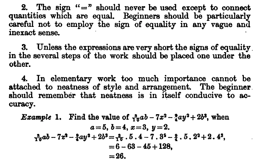 Feeling a strange sense of happiness reading a textbook on Algebra from 1885.
