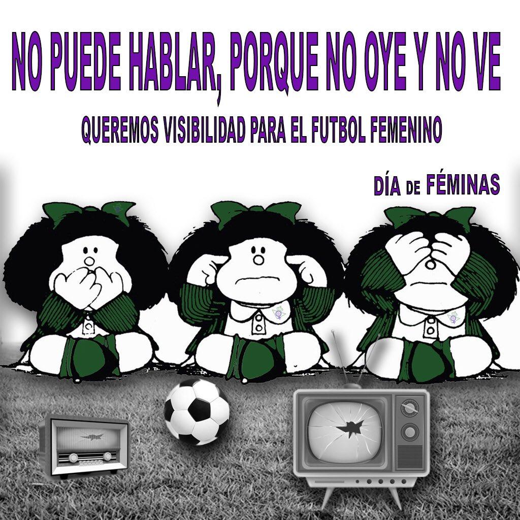@DiaDeFeminas Queremos que el fútbol femenino siga creciendo, para ello la cobertura televisiva es fundamental #PrimeraIberdrola #DíaDePartido #EibarRealBetis @RealBetisFem #1ªJornada #BetisFéminas #VuelveElFutFem