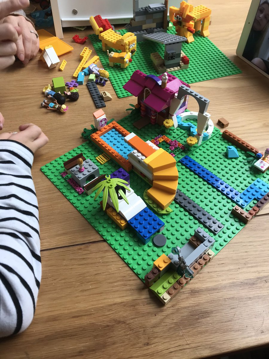 @CoPAPrincipal All great Sundays feature Lego! Notice the recreation of Lion King in the background!