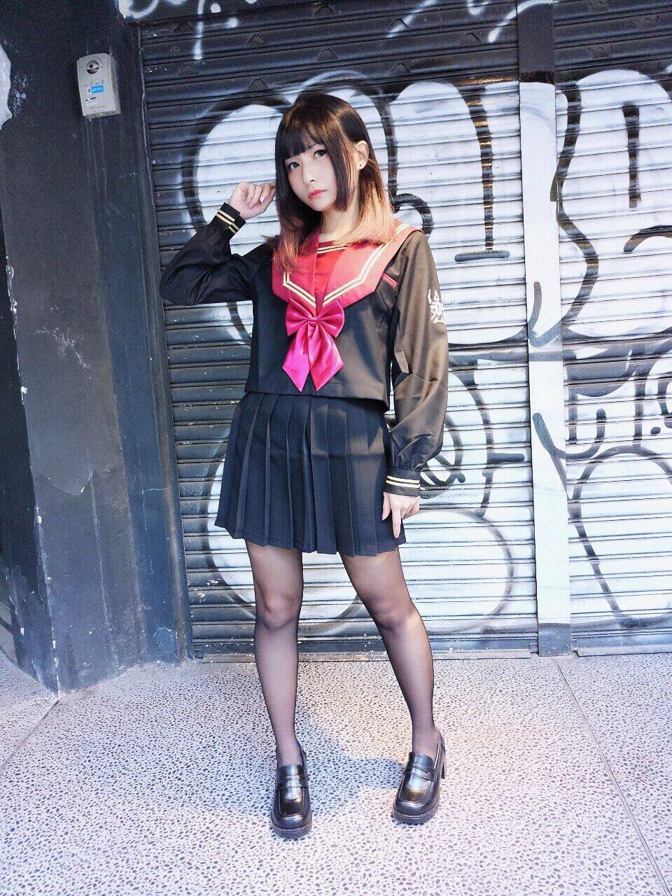 画像,黒いJK🖤#JK #制服 #セーラー服 #モモ #lovesweetmomo https://t.co/FQ3AXLDMLo…