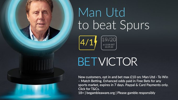 BetVictor price boost on Manchester UTD vs Tottenham
